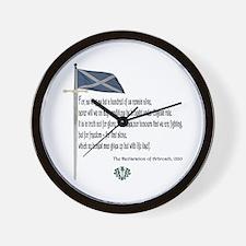 Declaration Of Arbroath Wall Clock