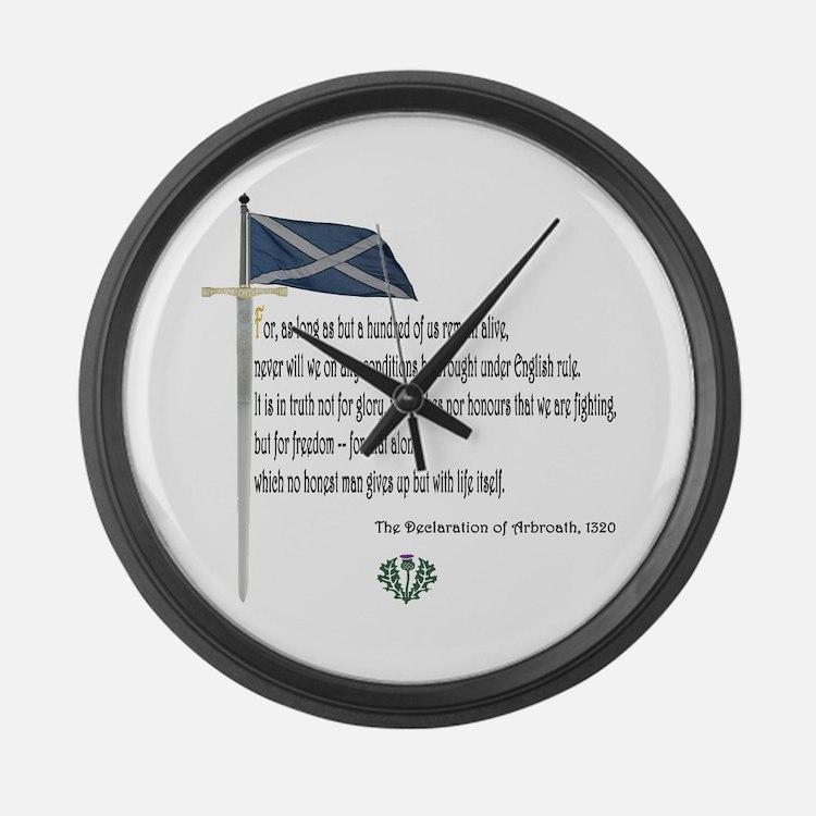 Declaration Of Arbroath Large Wall Clock