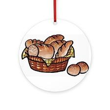 Bread Basket Ornament (Round)