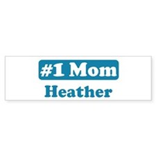 #1 Mom Heather Bumper Bumper Sticker