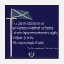 Declaration Of Arbroath Tile Coaster