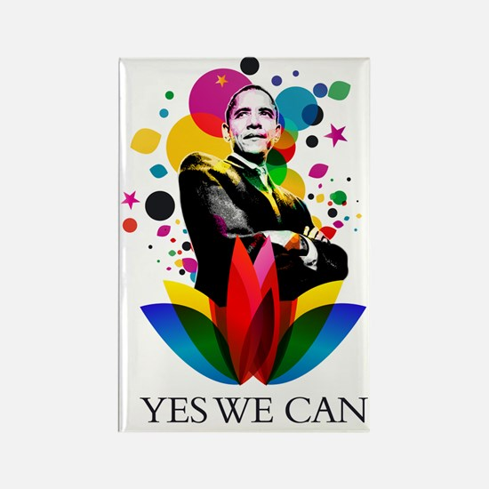 Obama - Yes we can Rectangle Magnet