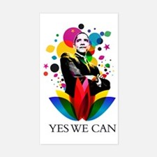 Obama - Yes we can Sticker (Rectangle)