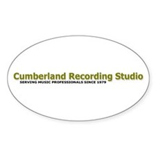 Cumberland Recording Studio Oval Decal