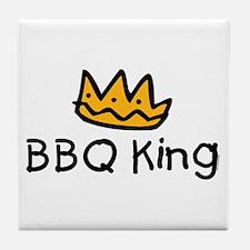 BBQ King Crown Tile Coaster