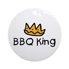 BBQ King Crown Ornament (Round)