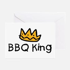 BBQ King Crown Greeting Cards (Pk of 10)