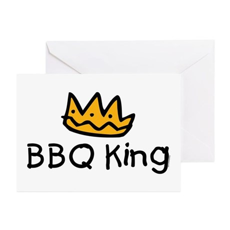 BBQ King Crown Greeting Cards (Pk of 20)