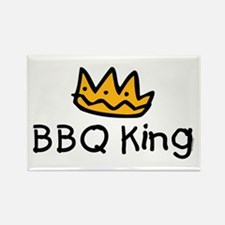 BBQ King Crown Rectangle Magnet