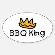 BBQ King Crown Oval Decal