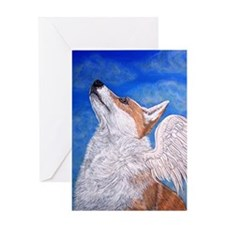 Angel Corgi Greeting Card