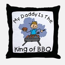 BBQ King Daddy Throw Pillow