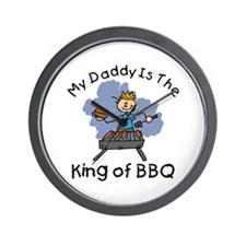BBQ King Daddy Wall Clock