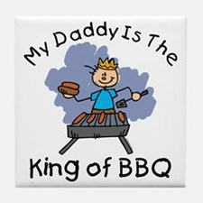 BBQ King Daddy Tile Coaster