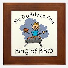 BBQ King Daddy Framed Tile