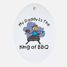 BBQ King Daddy Oval Ornament