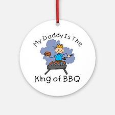 BBQ King Daddy Ornament (Round)
