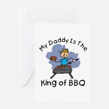 BBQ King Daddy Greeting Cards (Pk of 10)