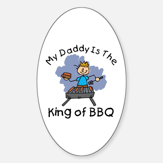 BBQ King Daddy Oval Decal