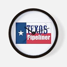 Texas Pipeliner Wall Clock