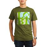 LGBT Tropo Pop Organic Men's T-Shirt (dark)