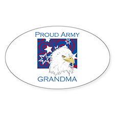 Proud Army Grandma Oval Decal