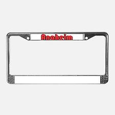 Anaheim, California License Plate Frame