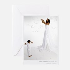 White Madonna Greeting Cards (Pk of 10)