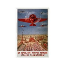 "Vintage ""Long Live Aviation"" USSR Rectan"
