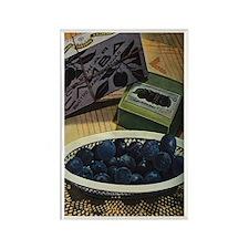 Vintage Russian Fruit Rectangle Magnet