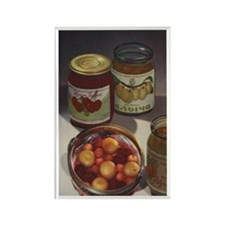 Vintage Russian Canned Cherries Rectangle Magnet