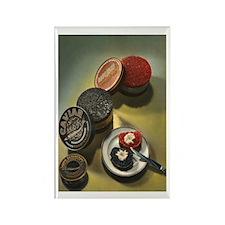 Vintage Russian Caviar Rectangle Magnet