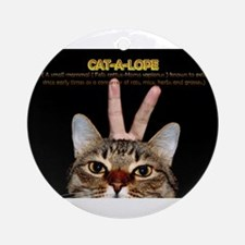 Cat-A-Lope Ornament (Round)