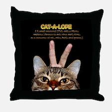 Cat-A-Lope Throw Pillow