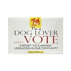 Dog Lover & I Vote Rectangle Magnet (10 pack)