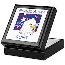Proud Army Aunt Keepsake Box