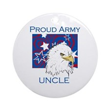 Proud Army Uncle Ornament (Round)
