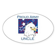 Proud Army Uncle Oval Decal