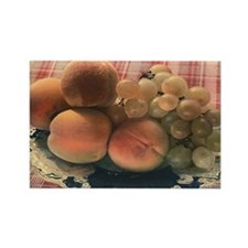 Vintage Russian Peaches and Grapes RectangleMagnet