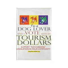Dog Lover & I Vote: Tourism Rectangle Magnet (100