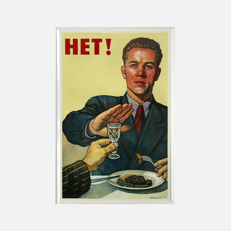 Say Nyet To Vodka Vintage Russian Rectangle Magnet