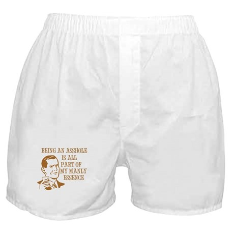 Orange Being An Asshole Boxer Shorts