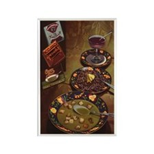 Vintage Russian Packaged Meals Rectangle Magnet