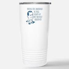 Blue Being An Asshole Travel Mug