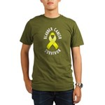 Bladder Cancer Survivor Organic Men's T-Shirt (dar