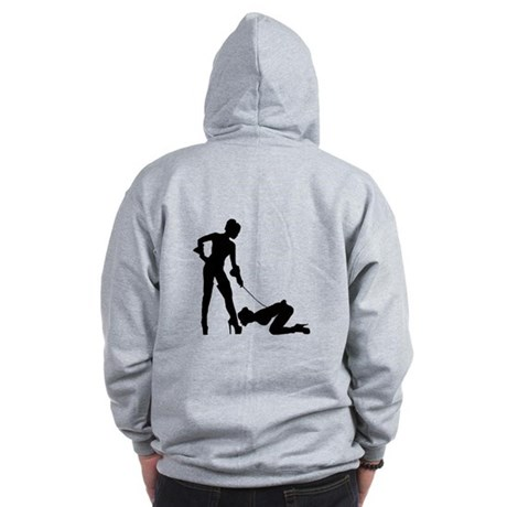 Lesbian submissive Boot Kiss Zip Hoodie