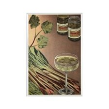 Rhubarb Vintage Russian Rectangle Magnet