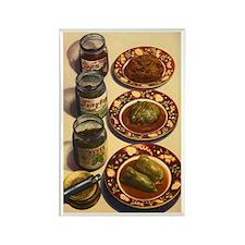 Vintage Russian Pickled Salads Rectangle Magnet