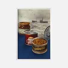 Vintage Russian Sardine Rectangle Magnet
