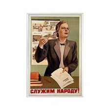 Serve The People Vintage Russian Rectangle Magnet